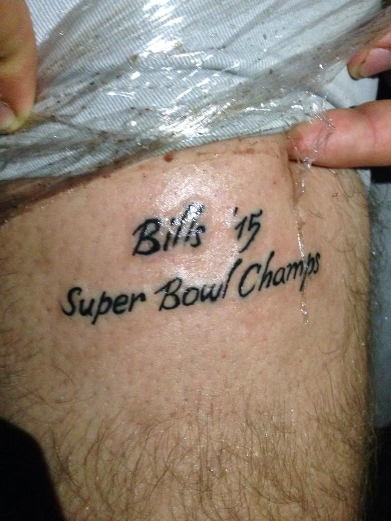 Buffalo Bills Fan Gets Super Bowl Champs Tattoo, Other Fans Say Magical Things About Bills ...