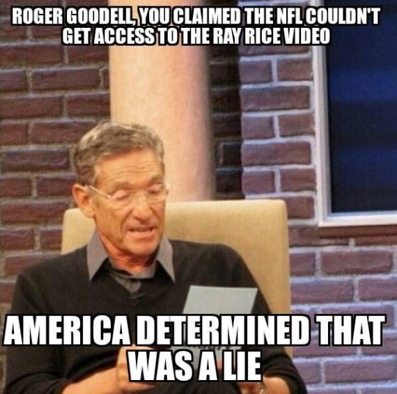 fire roger goodell meme 4 570x566 if you think firing nfl commissioner roger goodell over ray race