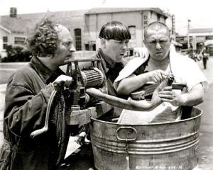 three stooges old time washing machine